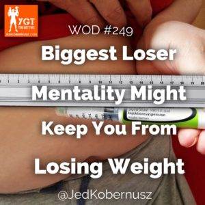 Biggest Loser Mentality Might Keep You From Losing