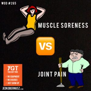 Muscle Soreness Versus Joint Pain