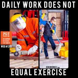 Daily Work Does Not Equal Exercise