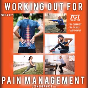 Working Out For Pain Management