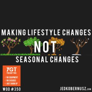 Making Lifestyle Changes Not Seasonal Changes