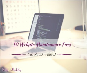 10 Website Maintenance Fixes You Need to Know