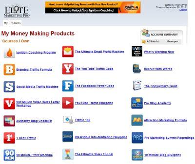 Elite Marketing Pro products