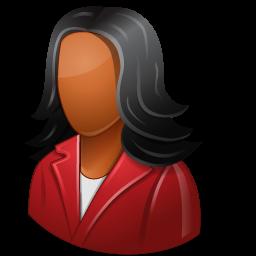 Office-Customer-Female-Dark-icon
