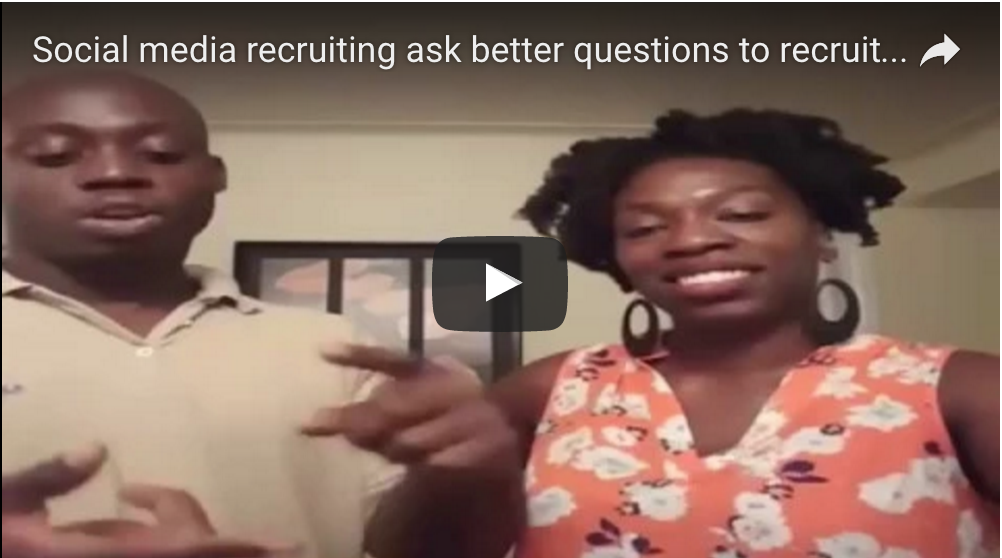 Social Media recruiting Ask better questions to recruit more reps