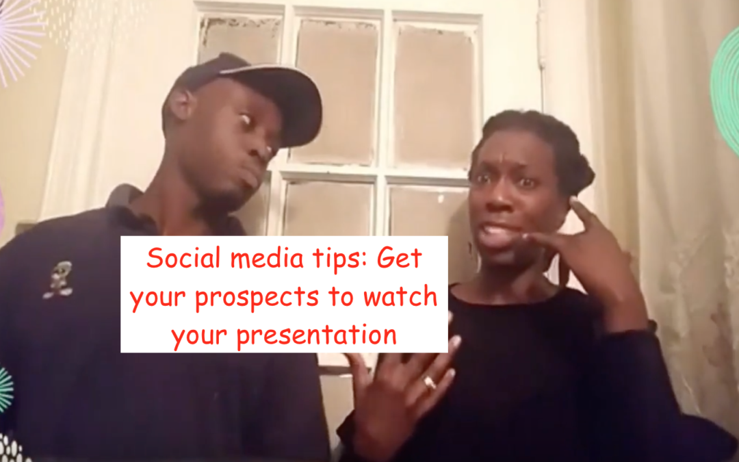 Social media training the secret to get prospects on your presentation