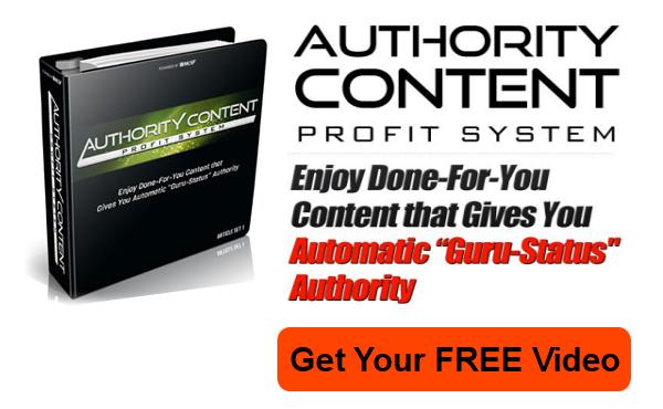 Authority content profit system