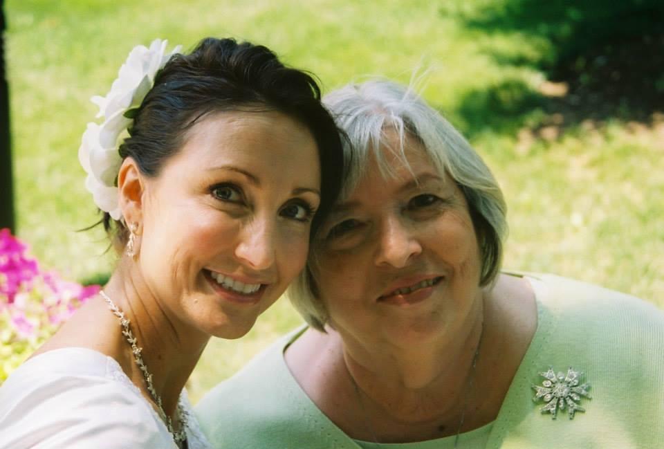 me and mom wedding day