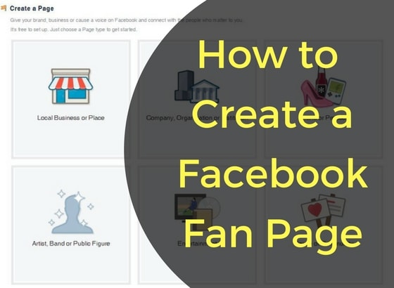 Create a Facebook Fan Page For Business