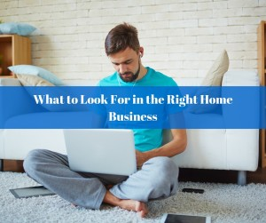 What to Look For in the Right Home Based Business