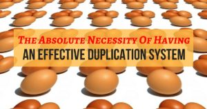 The Absolute Necessity Of Having An Effective Duplication System