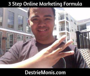 3 Step Online Marketing Formula