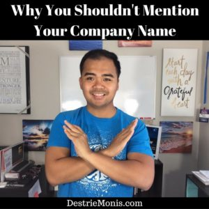 why-you-shouldnt-mention-your-company-name