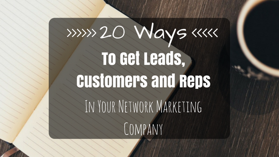 get leads customers and reps