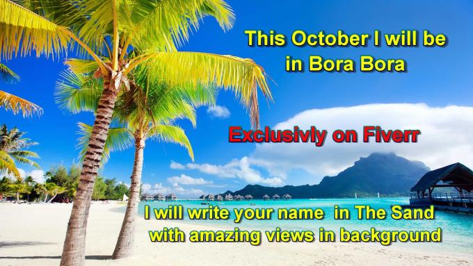 David Goes To Bora Bora