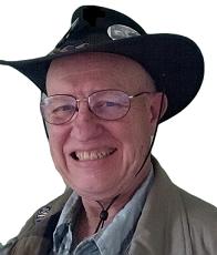 Ron Smith cowboy hat face left