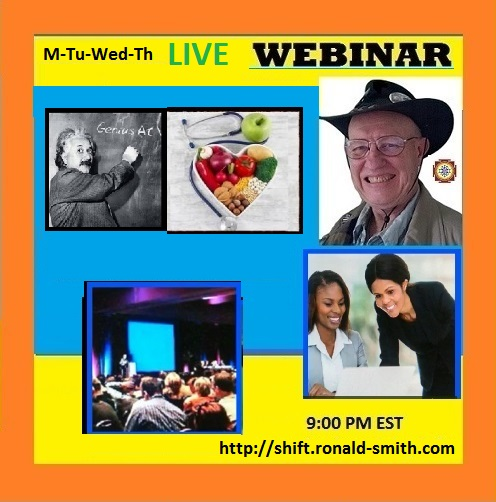 Webinar Mon-Th 9:00 PM EDT