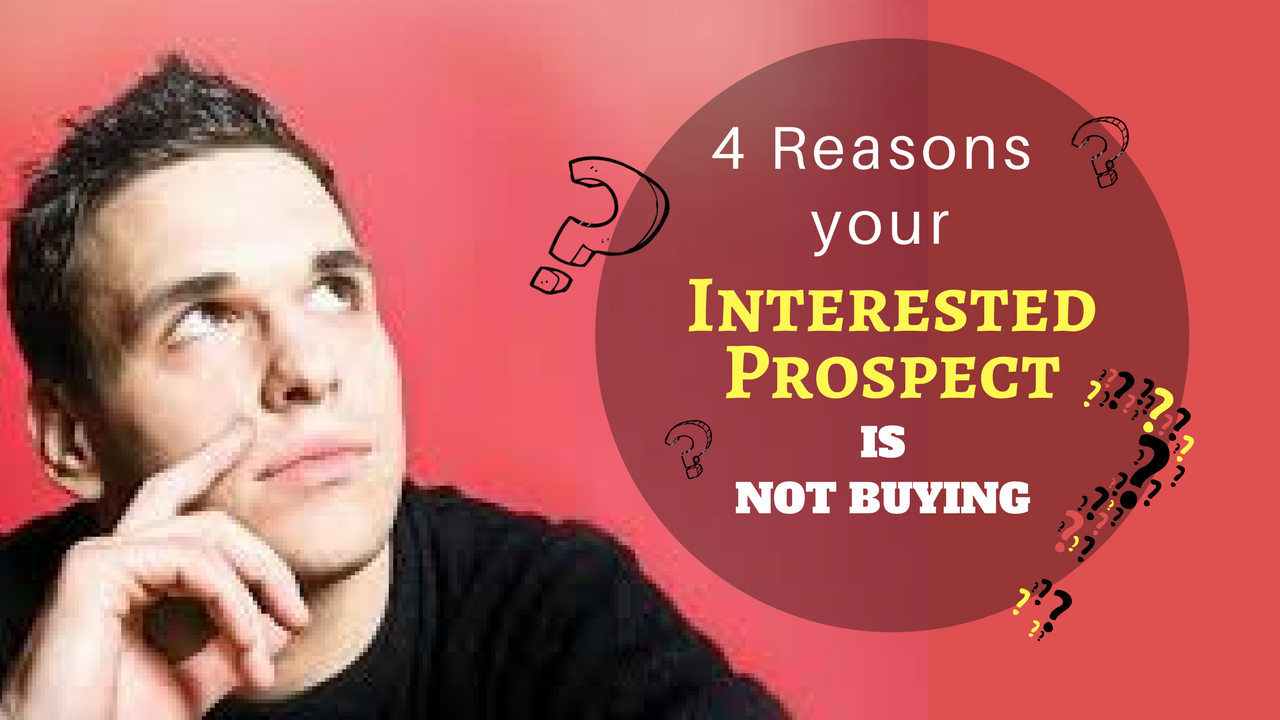 4 Reasons your Interested Prospect is Not Buying