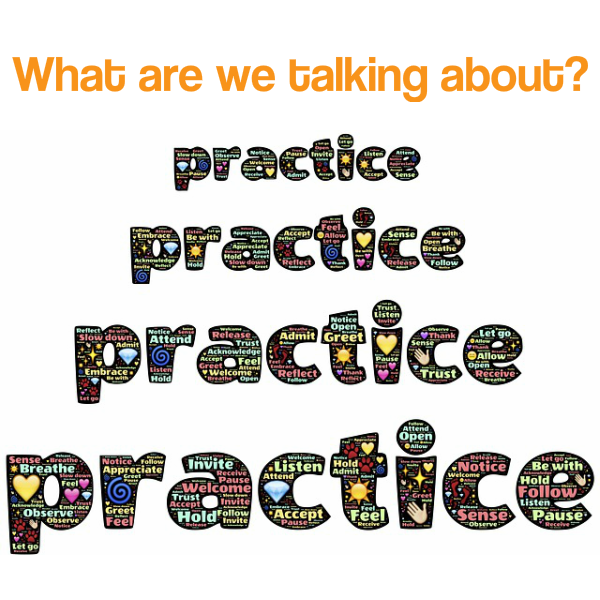 we're talking about practice