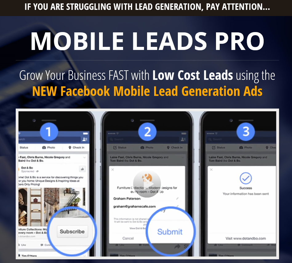 Facebook Mobile Traffic Leads Pro