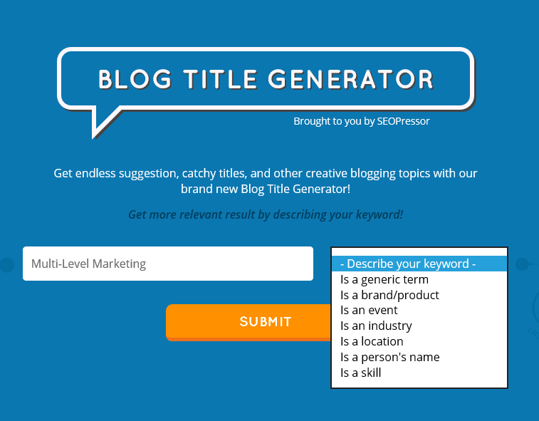 SEOPressor Blog Post Title Generator