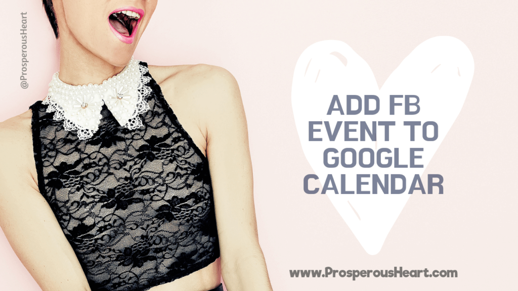 Add Facebook Event To Google Calendar Promo IMG