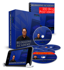 Blogging Academy product box