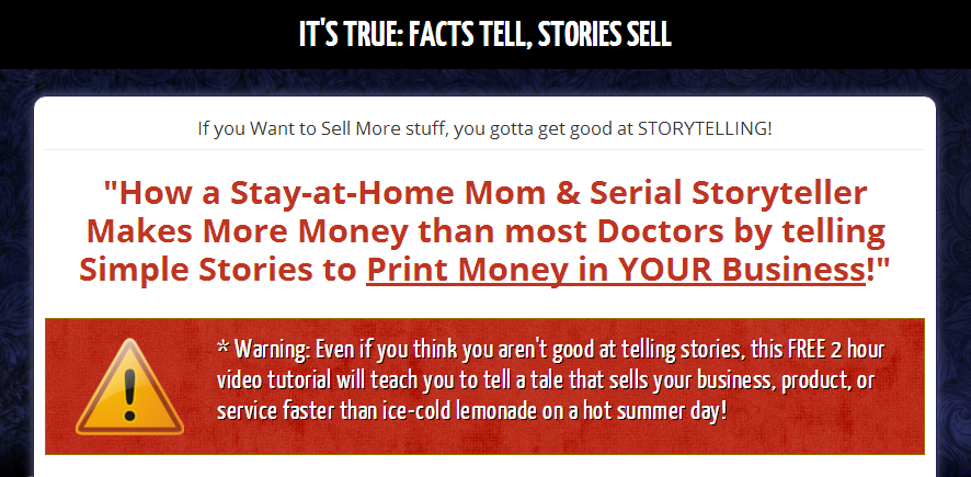 How To Use Story Telling in Your Home Business