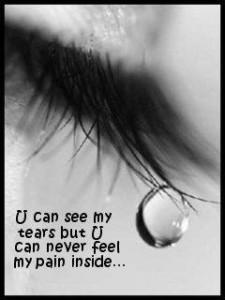 tears of pain