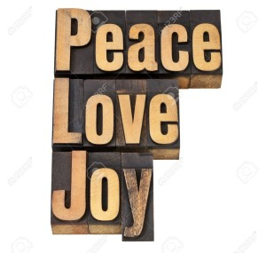 12358987-peace-love-and-joy-isolated-words-in-vintage-letterpress-wood-type-Stock-Photo