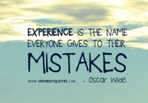 experience mistakes