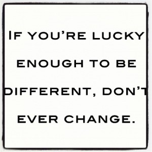 lucky to be different