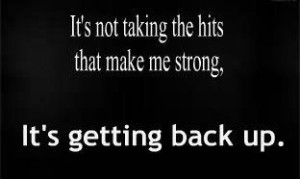 getting back up
