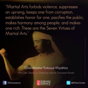 7 virtues of martial arts