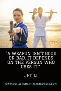 -A weapon isn't good or bad. It depends on the person who uses it.-