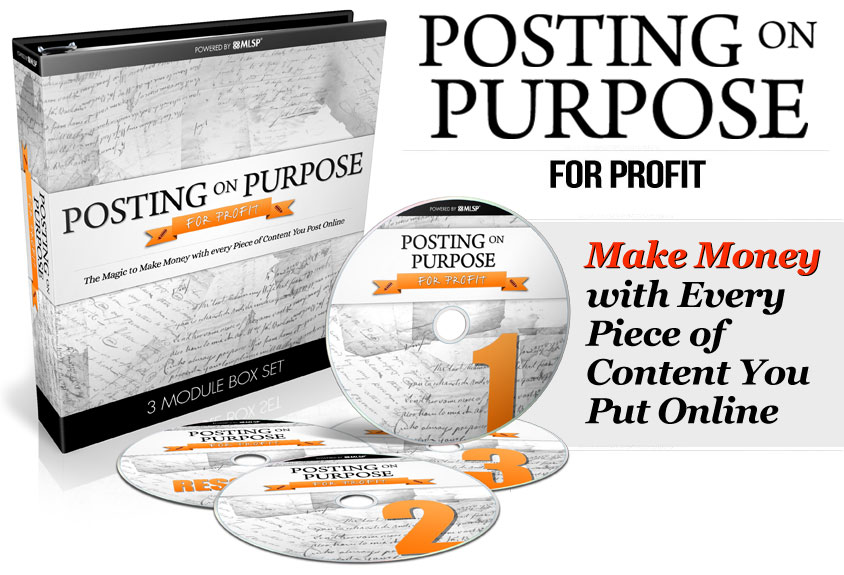 Posting On Purpose for Profits