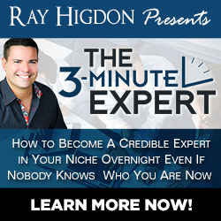 Recommended Business Tool: 3 Minute Expert By Ray Higdon