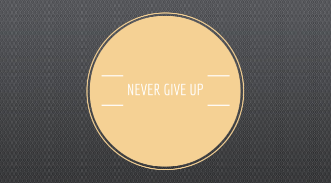 What Do You Want to Be When You Give Up?