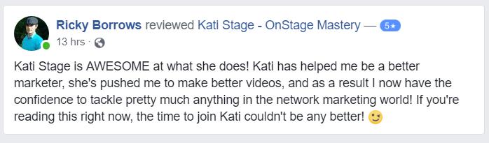 testimonial, kati stage, katistage.com