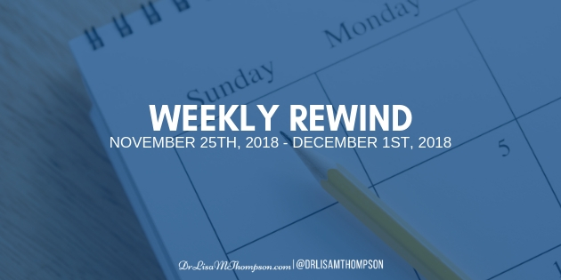 Week In Review: November 25th, 2018 – December 1st, 2018