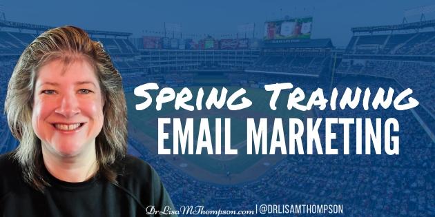 Spring Training Email Marketing