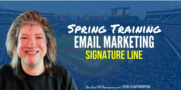 Spring Training Email Marketing | Creating a Signature Line