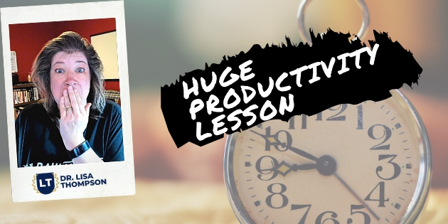 HUGE Productivity Lesson I Learned Today