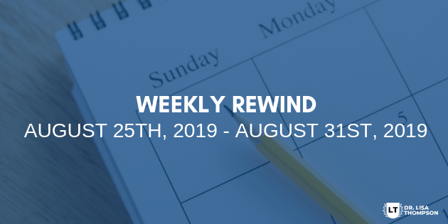 Week In Review: August 25th, 2019 – August 31st, 2019