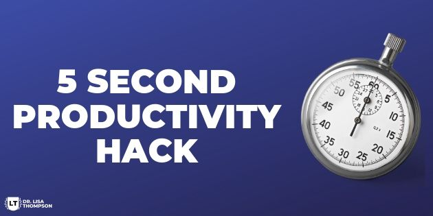 5 Second Productivity Tip