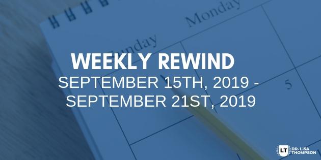 Week In Review: September 15th, 2019 – September 21st, 2019