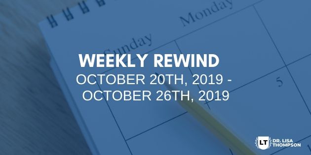 Week In Review: October 20th, 2019 – October 26th, 2019