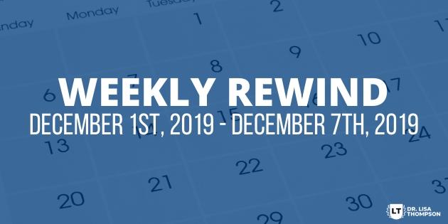 Week In Review: December 1st, 2019 – December 7th, 2019