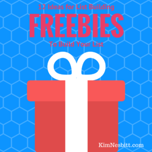 12 Ideas for List Building Freebies
