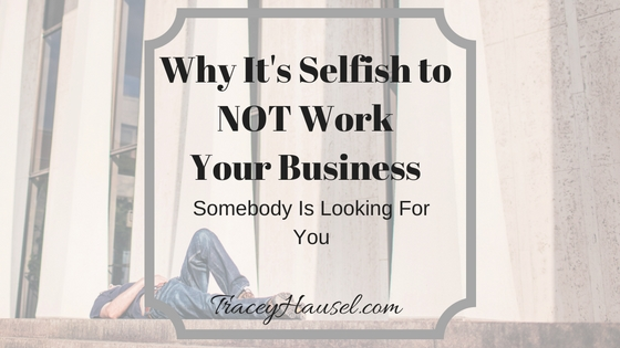 man lying down It's Selfish to NOT Work Your Business